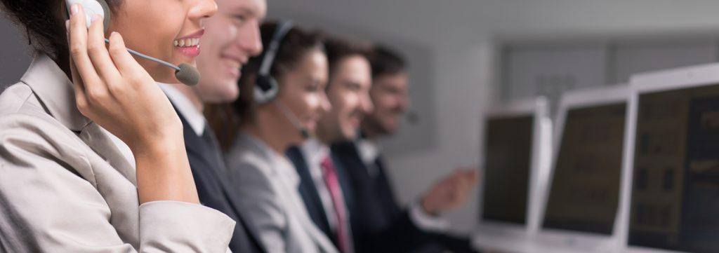 Hard work in call center company